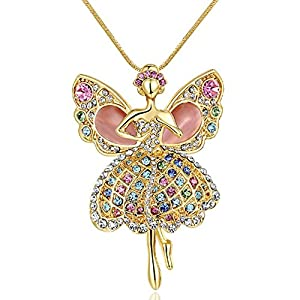 AngelBliss Butterfly Dance Life-High Grade Crystal Sweater Chain Necklace(C3)