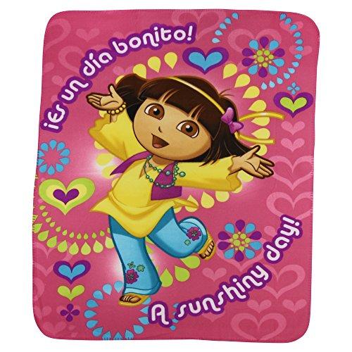 Kids Favorite Character Fleece Blanket - Dora the Explorer Sunshine - 1