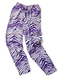 Zubaz Pants: Purple/White Zubaz Zebra Pants