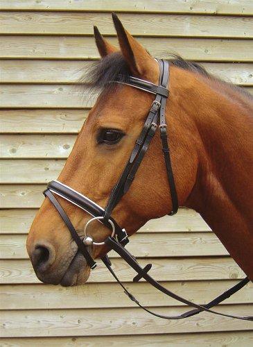 Harry's Horse Kombinierte Trense Luxe schwarz-weiss