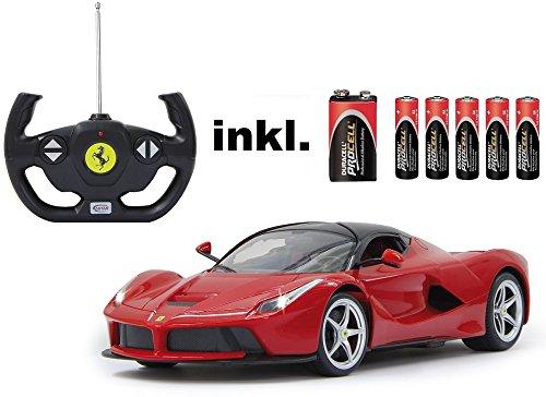 RC-Ferrari-LaFerrari-Mastab-114-LED-Licht-ferngesteuert-inkl-allen-Batterien-RTR-LIZENZ-NACHBAU