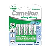 Camelion NH-AA1000ARBP4 1000mAh Ni-Mh (Pack Of 1) Rechargeable Battery