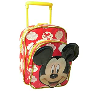 Mickey Mouse Mini Travel Cabin Wheeled Bag Trolley Suit Case Luggage Backpack from Sambro