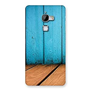 Cute Wood Cyan Back Case Cover for LeTv Le Max