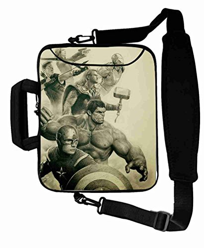 "Protection Customized Series the avengers movie Shoulder Bag Good For Men's (10 Inch) For 9.7""iPad Air 2-iPad 1 2 3 4 5-Samsung Galaxy Tab 3 S T700-Note 10.1-Tab PRO-Google Nexus 10 - CB-10-5694"