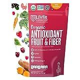 LIVfit Superfood, Organic Superfood Blend, Antioxidant Fruit & Fiber with Tumeric and Prebiotic Fiber, 360 Gram