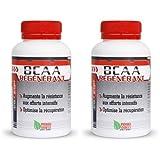 BIOVITAE Lot de 2 géluliers élaborés en FRANCE BCAA acides aminés 2 géluliers de 120 gélules dosées à 375 mg