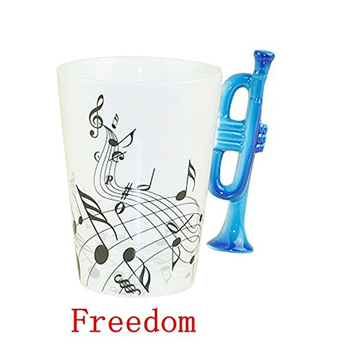 1 Piece Of Freedom High Quality Music Cup Trumpet Enamel Cup Tea Cup Coffee Cup Great Gift