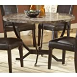 Hillsdale Monaco Round Faux Marble Top Dining Table with 48-Inch Diameter,  ....
