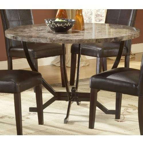 Cheap Hillsdale Monaco Round Faux Marble Top Dining Table With 48 Inch