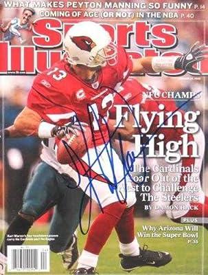 Kurt Warner autographed Sports Illustrated Magazine (Arizona Cardinals)