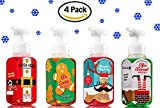 Bath and Body Works Foaming Hand Soaps -- Santa Suds Honeycrisp Apple, Elfin' Around North Pole Punch, Stasher Reindeer Raspberry and Oh Snap Gingerbread (set of 4)