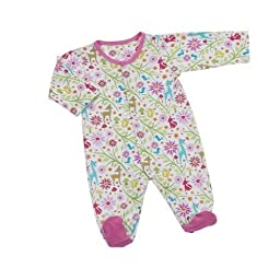 Maison Chic 0-6 Months Woodland Footed Pajamas, Pink