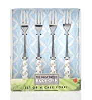 4 Great British Bake Off Cake Forks Set [T40-8623G-S]