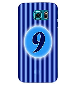 PrintDhaba Numerology Number 9 D-2565 Back Case Cover for SAMSUNG GALAXY S6 EDGE (Multi-Coloured)
