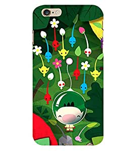 Boy Underwater with Flowers 3D Hard Polycarbonate Designer Back Case Cover for Apple iPhone 6 :: Apple iPhone 6