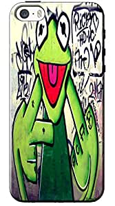 EU4IA Frog Graffiti Pattern MATTE FINISH 3D Back Cover Case For iPhone 5s - D253