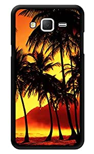 """Humor Gang Coconut Trees Sunset Dusk Printed Designer Mobile Back Cover For """"Samsung Galaxy j2"""" (3D, Glossy, Premium Quality Snap On Case)"""
