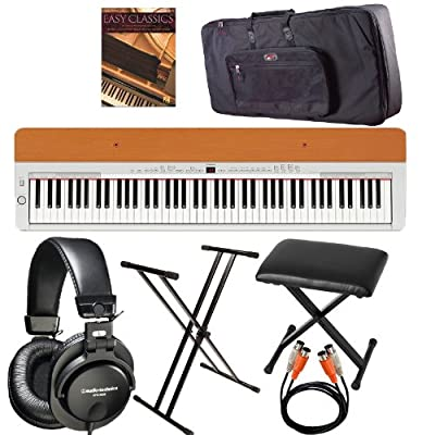 Yamaha P-115s Piano with Bench, Gator Case, Audio Technica ATH-M35 and Books Bundle from YAMAHA