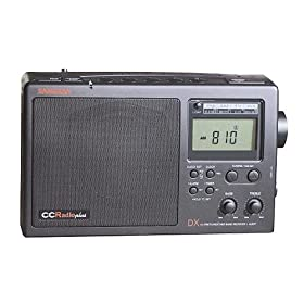 C Crane CCRadio Plus Multiband Portable AM/FM/Weather/TV Band Radio, Black