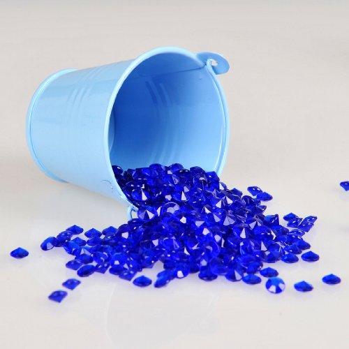 Remedios Boutique 2000Pcs 6Mm Acrylic Diamond Table Confetti Bridal Shower Party Decoration Royal Blue