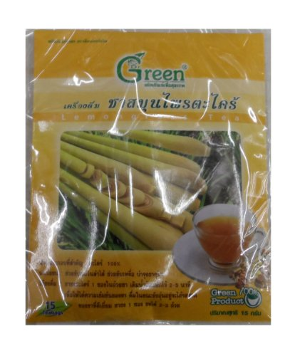 Dr. Green Brand Lemon Grass 15G (15 Tea Bags) X2 Pack Thai