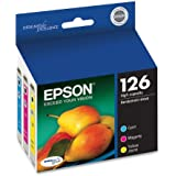 Epson DURABrite T126520 Ultra 126 High-capacity Inkjet Cartridge Color Multipack -Cyan/Magenta/Yellow