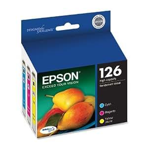 Epson DURABrite T126520 Ultra 126 High-capacity Inkjet Cartridge Color Multipack -Cyan/Magenta/Yellow