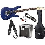 Rogue HSS Electric Guitar Value Pack, Blue