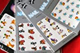 Tom & Jerry / Pluto And Lion / Mickey & Smurf Nail Art Water Tattoo Sticker - Pack of 4