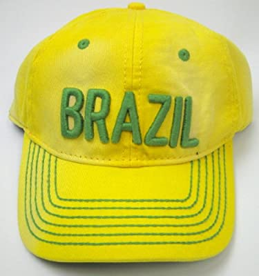 Brazil Distressed and Washed Baseball Cap By American Needle