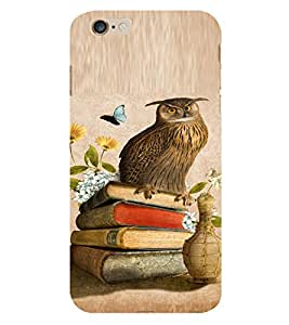PrintVisa Girly Owl And Butterfly Design 3D Hard Polycarbonate Designer Back Case Cover for Apple iPhone 6 Plus