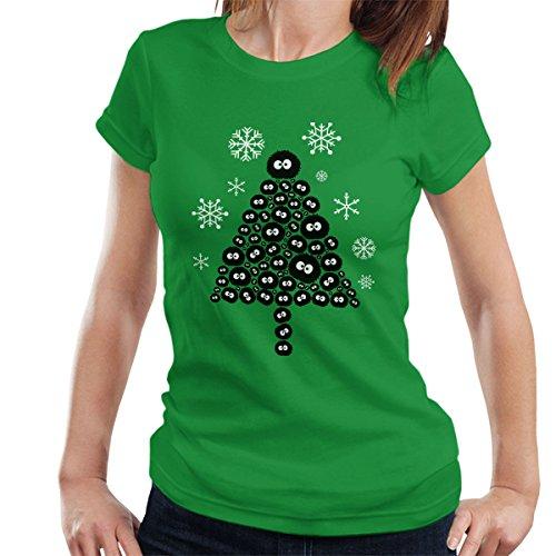 soots-sprite-christmas-tree-studio-ghibli-womens-t-shirt