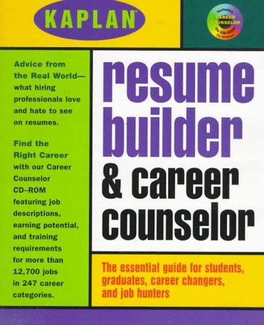 kaplan resume builder with career cd rom 9780684836928