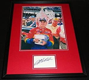Autographed Jeff Gordon Picture - Framed 16x20 Display Brickyard - Autographed NASCAR... by Sports Memorabilia