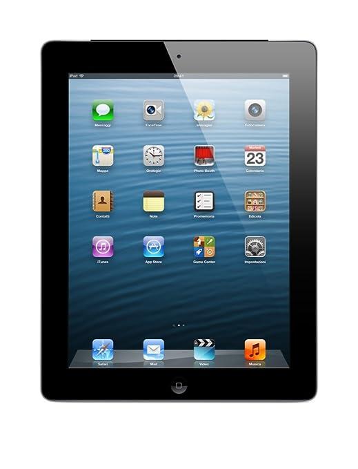 """Apple Retina Wi-Fi + Cellular 64GB Tablette Tactile 9.7 """" iOS Noir"""