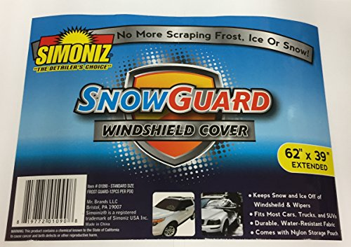 SIMONIZ SNOW GUARD WINDSHIELD COVER 62