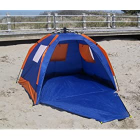 ABO Gear Instent Pop-Up Beach Shelter SPF 50 - Limited Sports Edition w/ BONUS Beach Bag