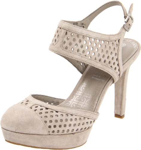 Rockport Women's Janae Dorsay Ankle Strap Cobblestone Grey Slingbacks Heels K61358 6 UK