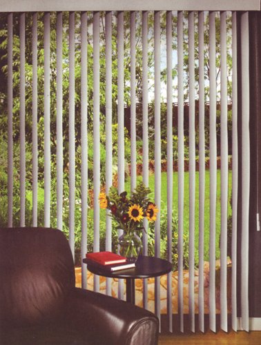 Alabaster Vertical Blind Vinyl Ribbed For Patio Door and Window
