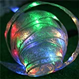 Jhua 4M 40pcs LED Ribbon String Lights Copper Wire Fairy String Lights Decorate Colorful Rope Lights Powered by Battery for Seasonal/ Christmas Trees/ Holiday/ Wedding/ Parties Decoration