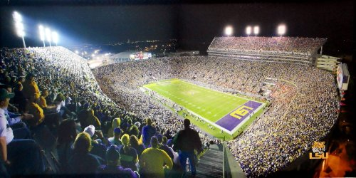 LSU Tigers Stadium Canvas Art at Amazon.com