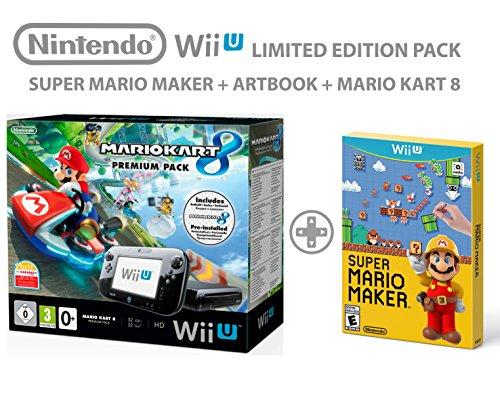 Nintendo Wii U Premium Pack 32GB + Mario Kart 8 + Super Mario Maker ArtBook - Edizione limitata