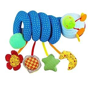 zeagoo spirale d 39 activit b b bleu jouet poussette. Black Bedroom Furniture Sets. Home Design Ideas