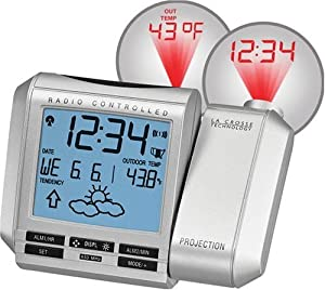 322f21 projection clock time set - La Crosse Atomic Projection Alarm Clock In Temp Wt5110