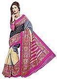 Khushali Presents Printed Silk Saree(Multi)