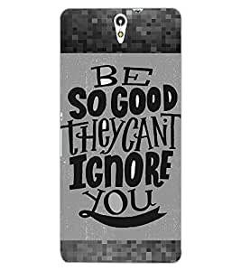 ColourCraft Lovely Quote Design Back Case Cover for SONY XPERIA C5 ULTRA