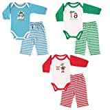 Luvable Friends Christmas Long Sleeve Bodysuit & Pant