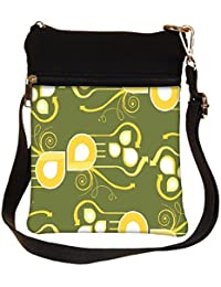 Snoogg Pattern Multicolor Design Cross Body Tote Bag / Shoulder Sling Carry Bag