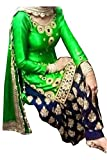 Ninecolours Womens Georgette Patiala Suit Dress Material (SM0820109_Green)